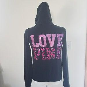 Pink back hoodie